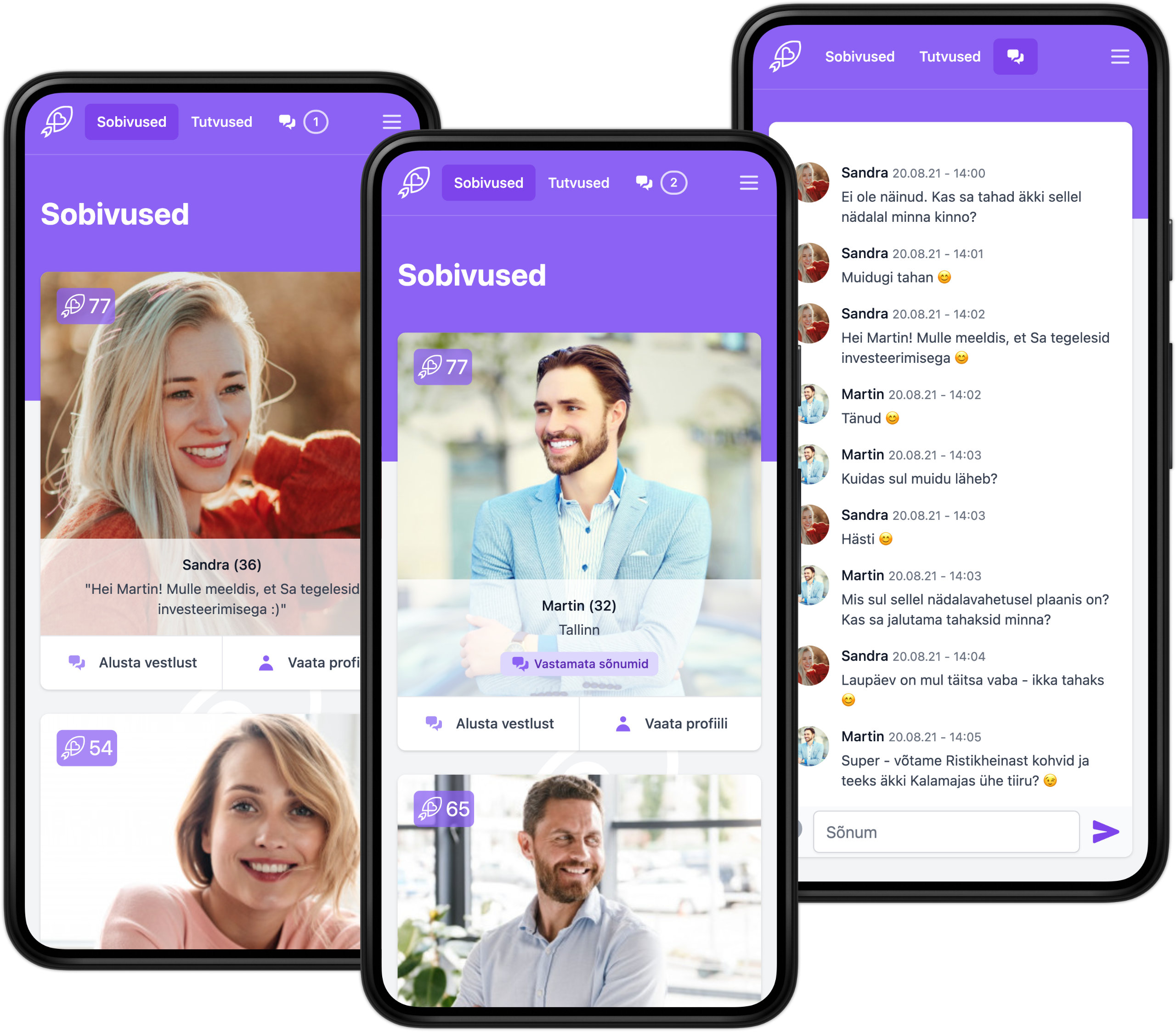 Mobile interface examples